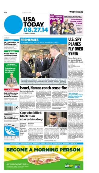 08/27/2014 Issue of USA TODAY