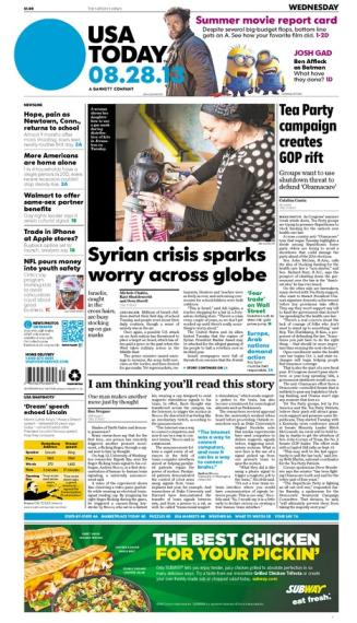 08/28/2013 Issue of USA TODAY
