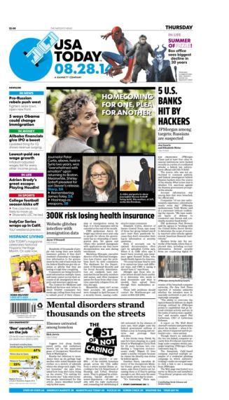 08/28/2014 Issue of USA TODAY