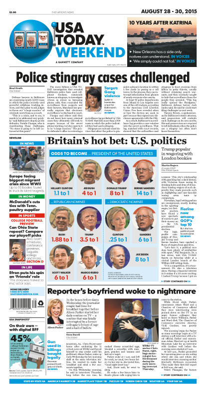 08/28/2015 Issue of USA TODAY