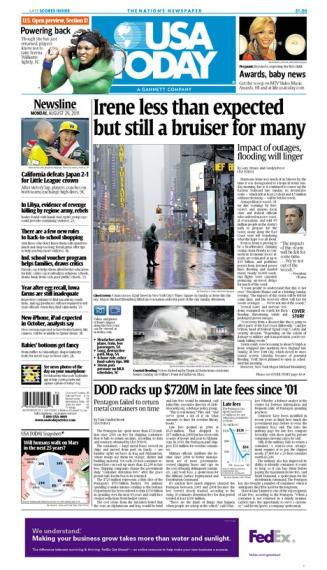 08/29/2011 Issue of USA TODAY