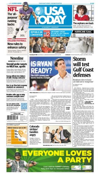 08/29/2012 Issue of USA TODAY