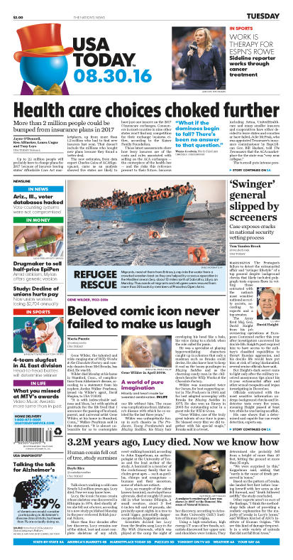 08/30/2016 Issue of USA TODAY