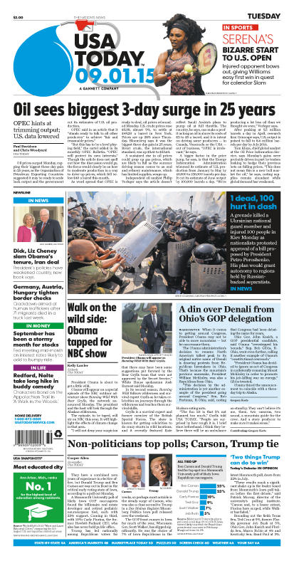 09/01/2015 Issue of USA TODAY