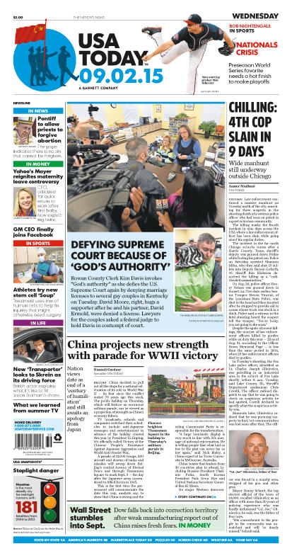 09/02/2015 Issue of USA TODAY