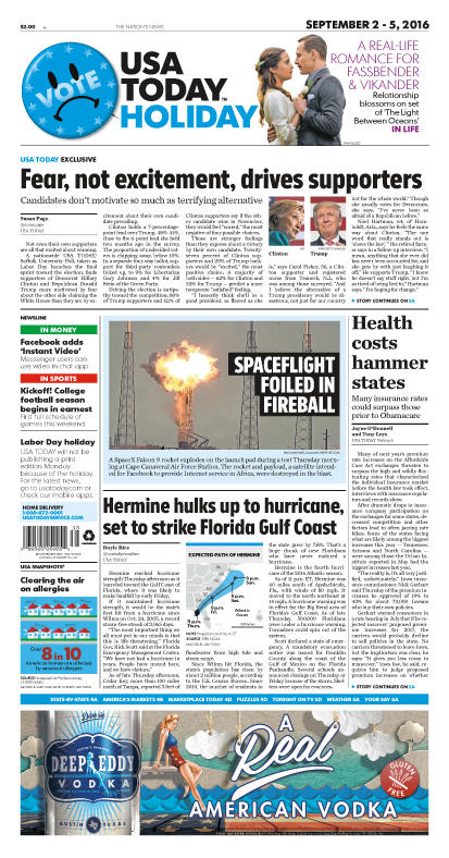 09/02/2016 Issue of USA TODAY