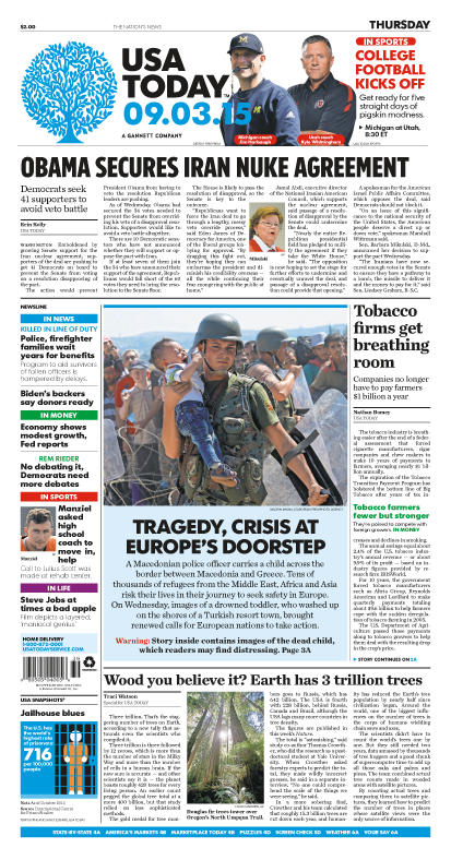 09/03/2015 Issue of USA TODAY