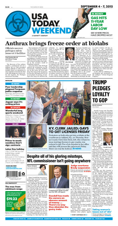 09/04/2015 Issue of USA TODAY