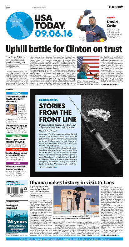 09/06/2016 Issue of USA TODAY