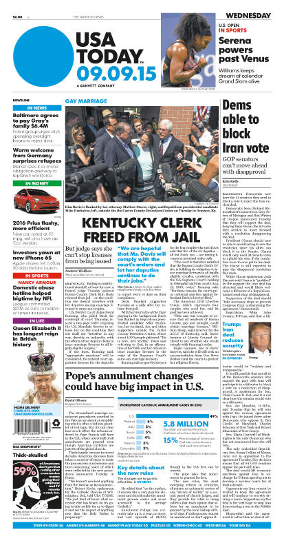 09/09/2015 Issue of USA TODAY
