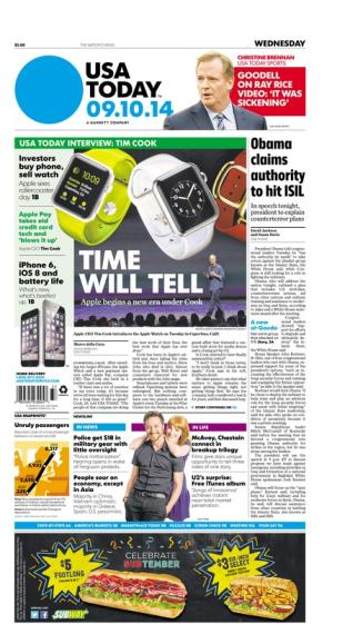 09/10/2014 Issue of USA TODAY
