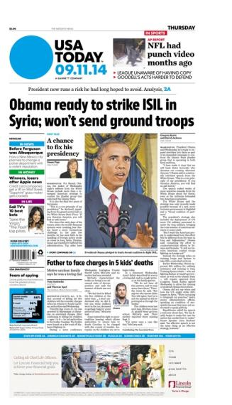 09/11/2014 Issue of USA TODAY