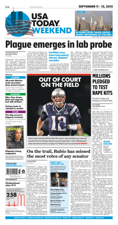 09/11/2015 Issue of USA TODAY