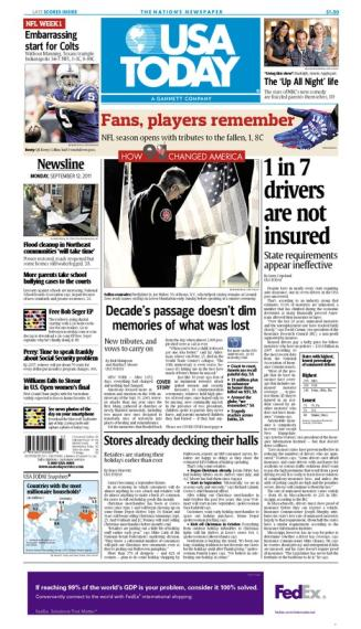 09/12/2011 Issue of USA TODAY