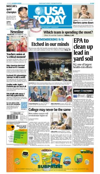 09/12/2012 Issue of USA TODAY
