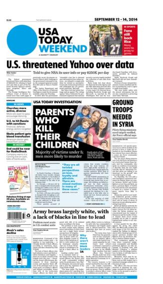 09/12/2014 Issue of USA TODAY