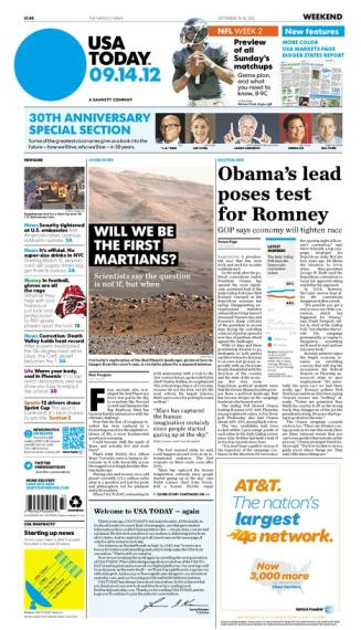 09/14/2012 Issue of USA TODAY