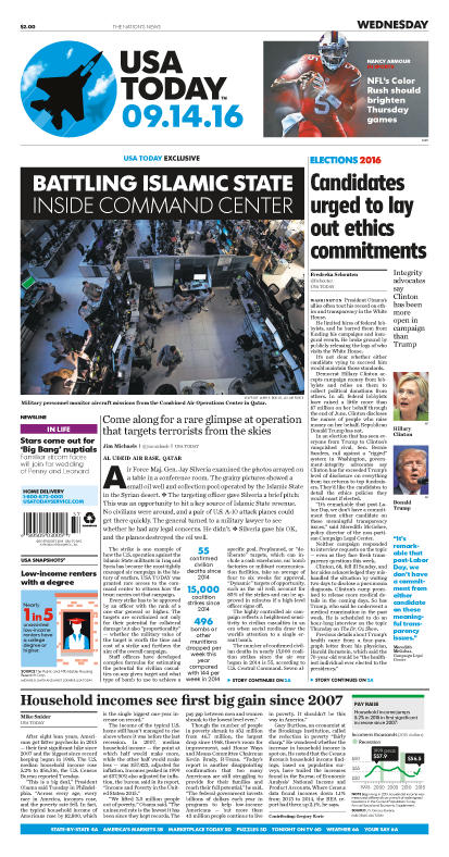 09/14/2016 Issue of USA TODAY