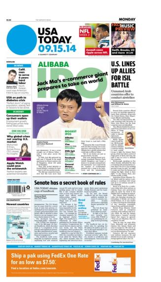 09/15/2014 Issue of USA TODAY