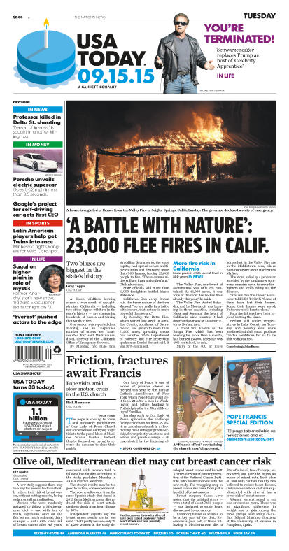 09/15/2015 Issue of USA TODAY