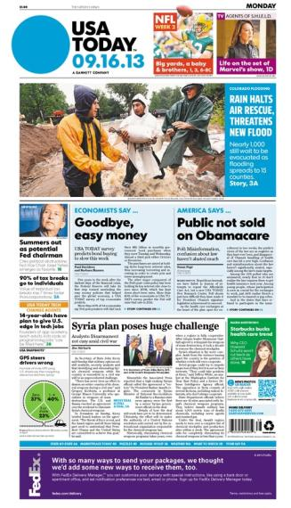 09/16/2013 Issue of USA TODAY