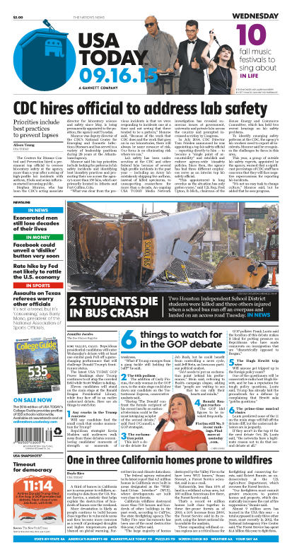 09/16/2015 Issue of USA TODAY