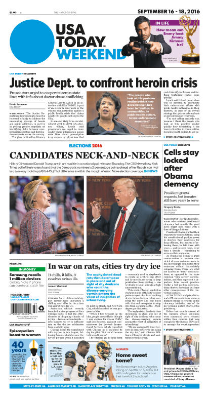 09/16/2016 Issue of USA TODAY