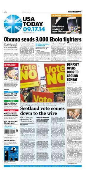 09/17/2014 Issue of USA TODAY
