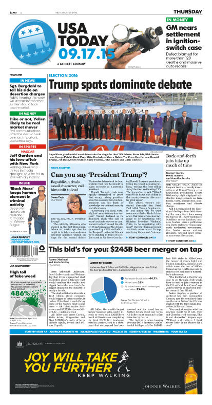 09/17/2015 Issue of USA TODAY