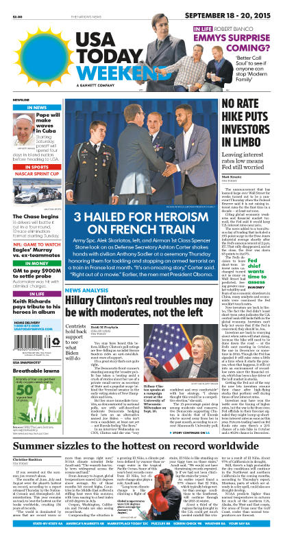 09/18/2015 Issue of USA TODAY