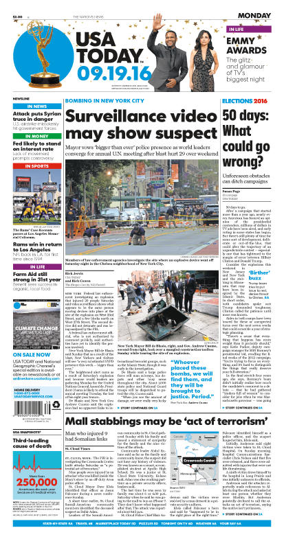 09/19/2016 Issue of USA TODAY