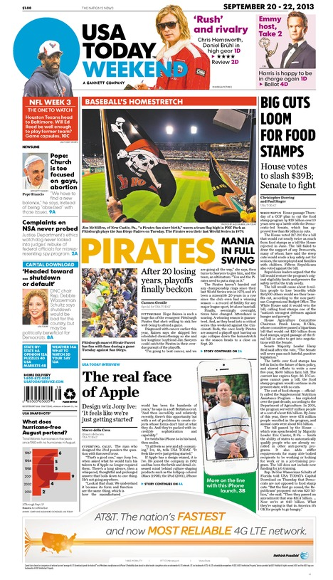09/20/2013 Issue of USA TODAY