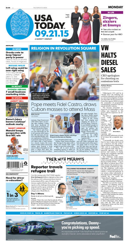 09/21/2015 Issue of USA TODAY
