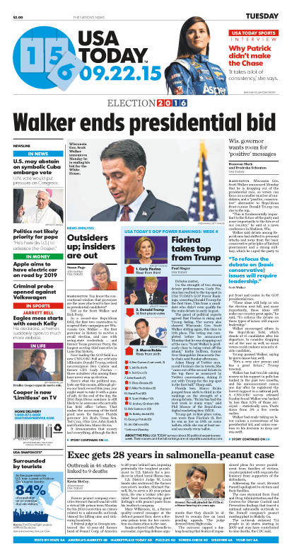 09/22/2015 Issue of USA TODAY