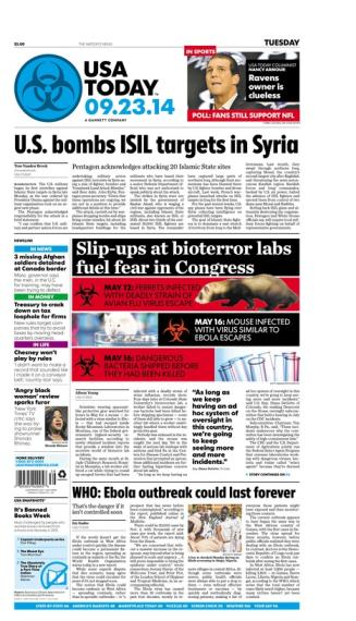 09/23/2014 Issue of USA TODAY