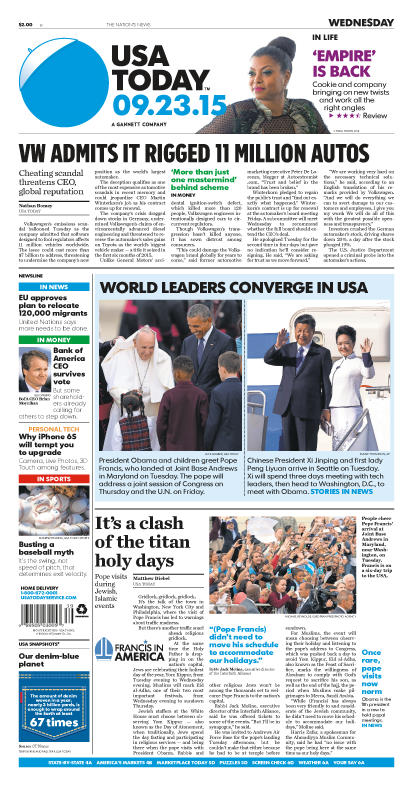 09/23/2015 Issue of USA TODAY