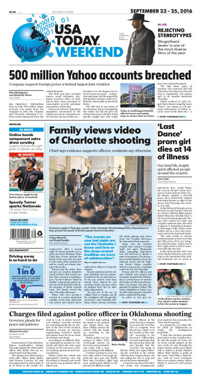 09/23/2016 Issue of USA TODAY