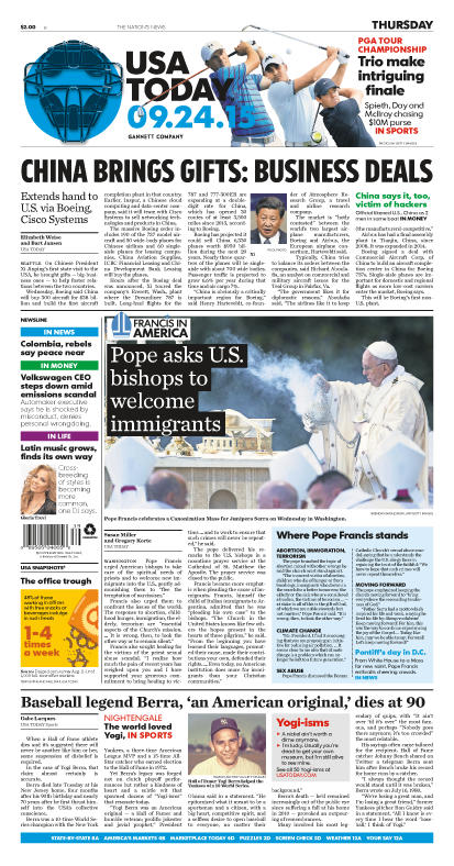 09/24/2015 Issue of USA TODAY