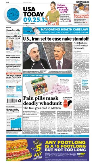 09/25/2013 Issue of USA TODAY