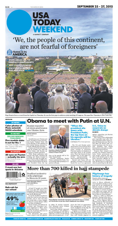 09/25/2015 Issue of USA TODAY