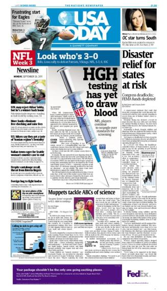 09/26/2011 Issue of USA TODAY