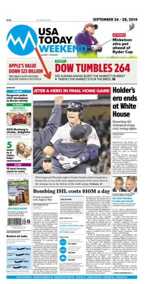 09/26/2014 Issue of USA TODAY