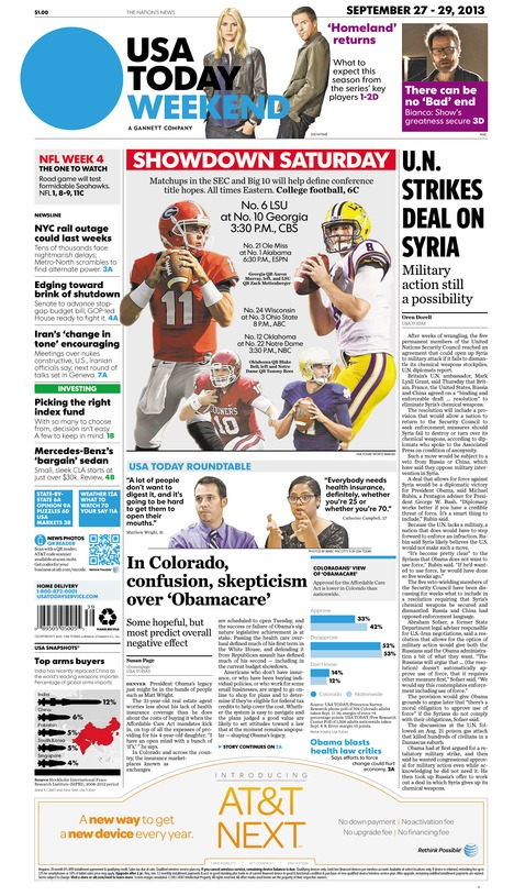 09/27/2013 Issue of USA TODAY