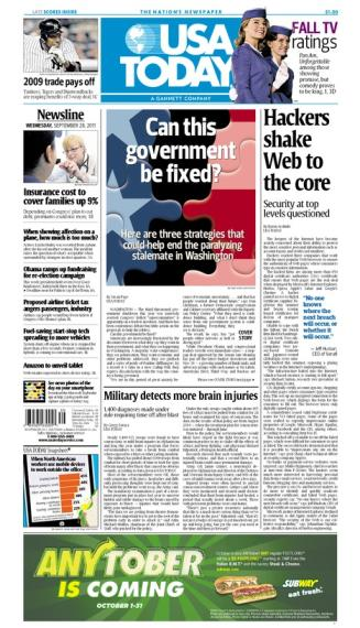 09/28/2011 Issue of USA TODAY