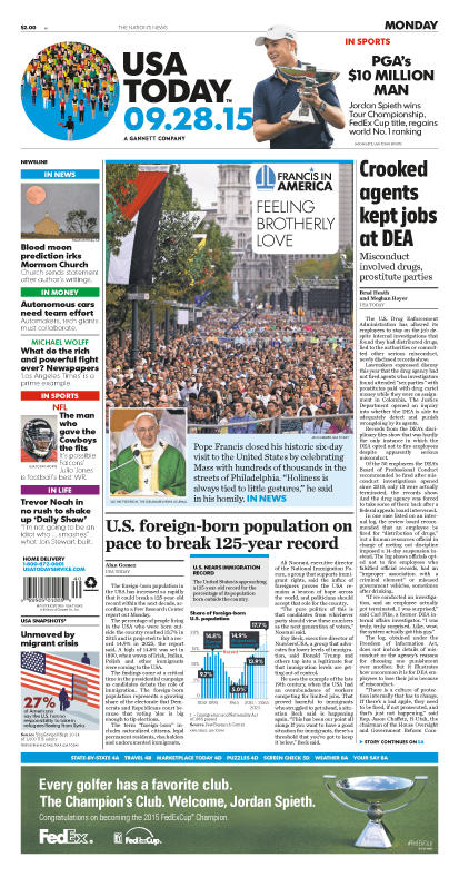 09/28/2015 Issue of USA TODAY