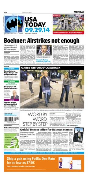 09/29/2014 Issue of USA TODAY