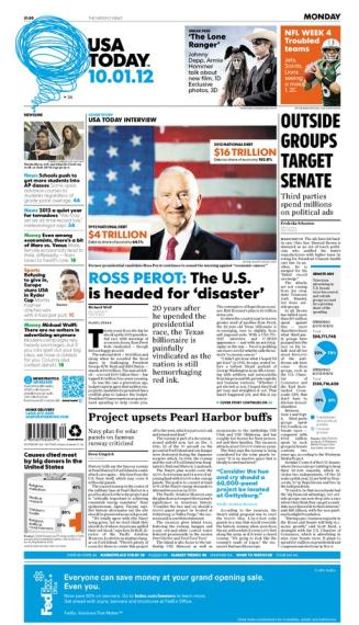 10/01/2012 Issue of USA TODAY