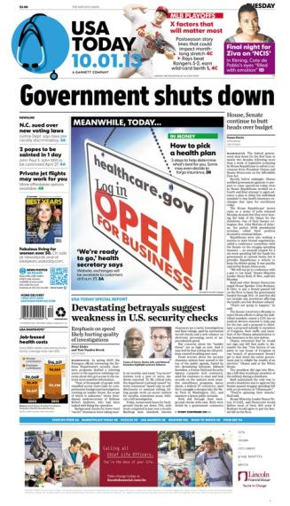 10/01/2013 Issue of USA TODAY