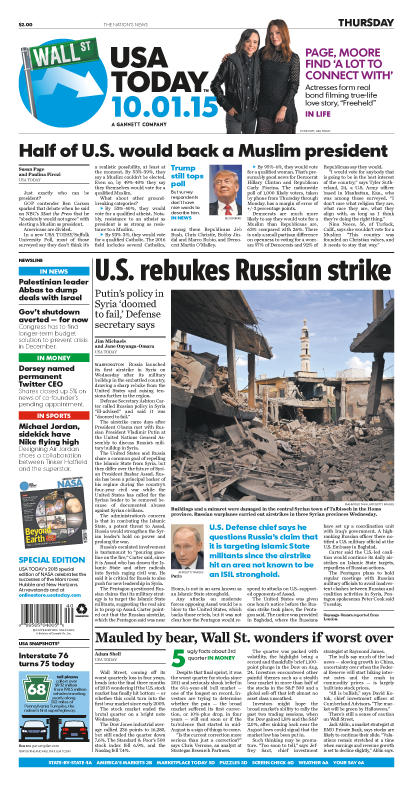 10/01/2015 Issue of USA TODAY
