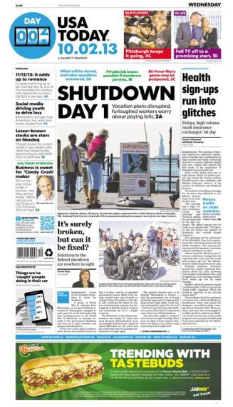10/02/2013 Issue of USA TODAY